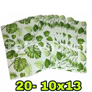 Back in stock 20 polymailers banana leaf 10x13